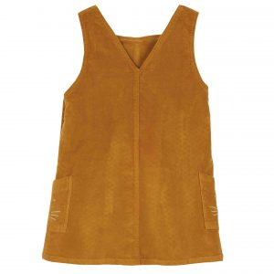 Emile et Ida  - VELVET DRESS YELLOW - Clothing