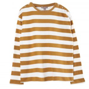Emile et Ida  - STRIPE T-SHIRT YELLOW - Clothing