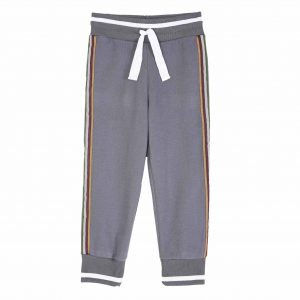 Emile et Ida  - SIDE STRIPE JOGGER PANTS GREY - Clothing