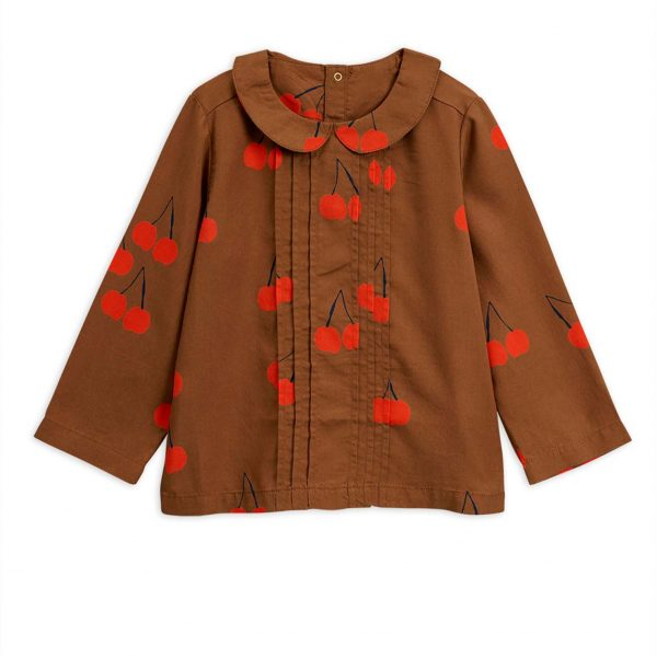 Mini Rodini  - CHERRY WOVEN BLOUSE BROWN - Clothing