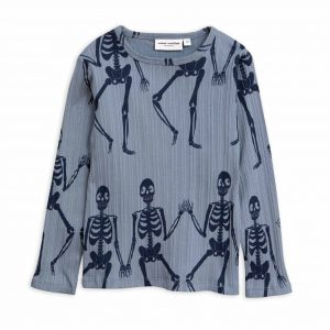 Mini Rodini  - SKELETON LONG SLEEVE T-SHIRT BLUE - Clothing