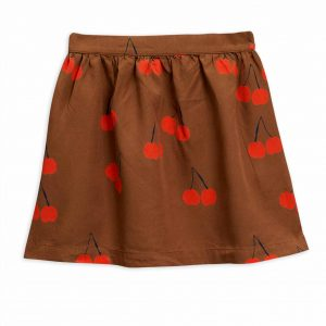 Mini Rodini  - CHERRY WOVEN SKIRT BROWN - Clothing
