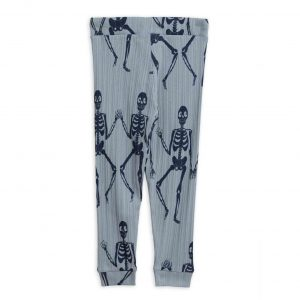 Mini Rodini  - SKELETON JERSEY TROUSERS BLUE - Clothing