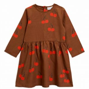 Mini Rodini  - CHERRY WOVEN DRESS BROWN - Clothing