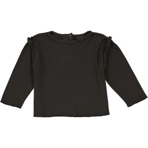 Studio Boheme  - LONG SLEEVE T-SHIRT LALA FAUX NOIR - Clothing