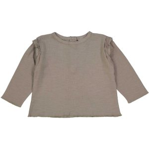 Studio Boheme  - LONG SLEEVE T-SHIRT LALA TAUPE - Clothing