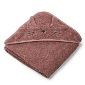 Liewood  - ALBERT HOODED TOWEL CAT DARK ROSE - Homeware