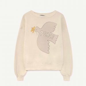 The Animals Observatory  - BEAR KIDS SWEATSHIRT WHITE DOVE - Clothing