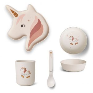 Liewood  - ELIN BAMBOO BOX SET UNICORN CREME DE LA CREME - Homeware