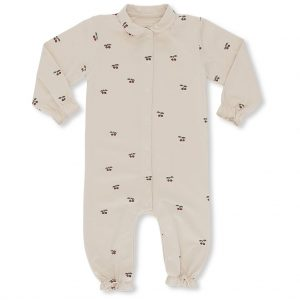 Konges Sløjd  - ONESIE WITH COLLAR CHERRY BLUSH - Clothing
