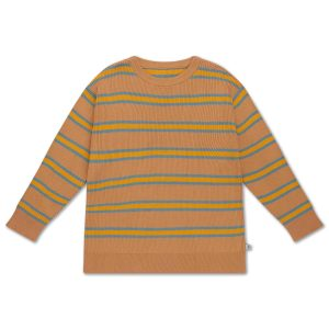 Repose AMS  - KNIT SWEATER SANDY BLUE STRIPE - Clothing