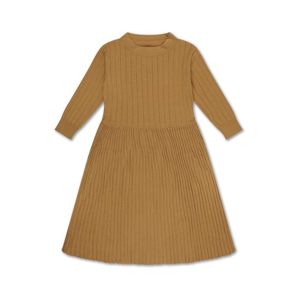 Repose AMS  - KNIT DRESS SMOOTH CAMEL - Clothing