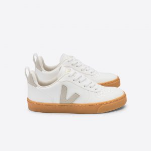Veja  - V-10 LACE VEGAN WHITE NATURAL GUM SOLE - Footwear