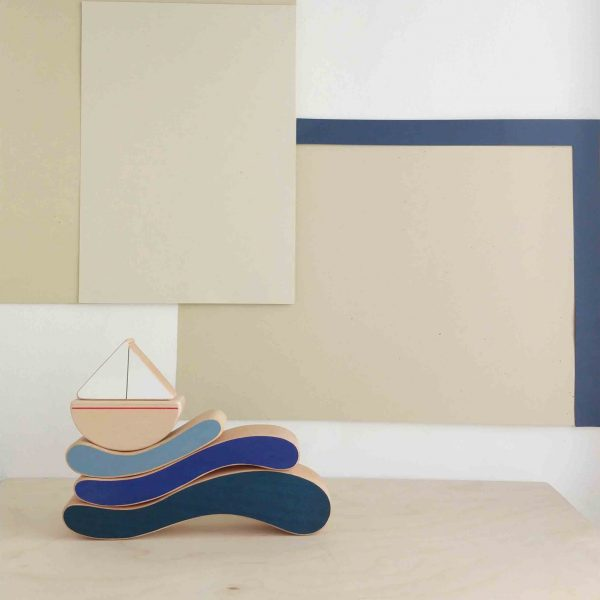 The Wandering Workshop  - BOAT & WAVES STACKING TOY - Toys