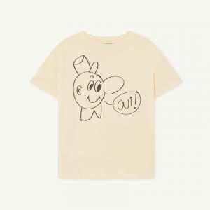The Animals Observatory  - ROOSTER KIDS T-SHIRT YELLOW OUI - Clothing