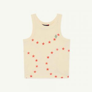 The Animals Observatory  - FROG KIDS T-SHIRT YELLOW STARS - Clothing