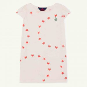 The Animals Observatory  - FLAMINGO KIDS DRESS WHITE STARS - Clothing