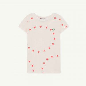The Animals Observatory  - HIPPO KIDS T-SHIRT WHITE STARS - Clothing
