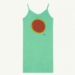 The Animals Observatory  - GAZEL KIDS DRESS GREEN SUN - Clothing