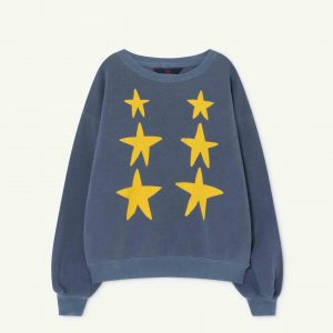 The Animals Observatory  - BEAR KIDS SWEATSHIRT BLUE STARS - Clothing