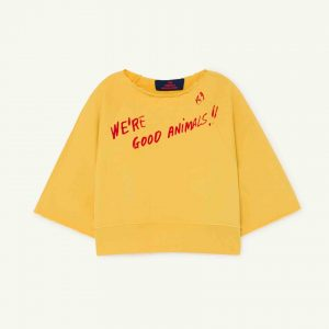The Animals Observatory  - SQUAB KIDS SWEATSHIRT YELLOW WE'RE GOOD ANIMALS - Clothing