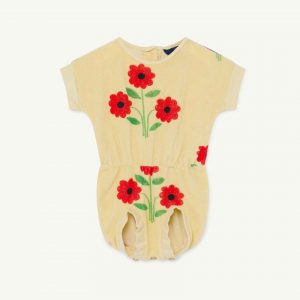 The Animals Observatory  - KOALA BABY JUMPSUIT YELLOW FLOWERS - Clothing