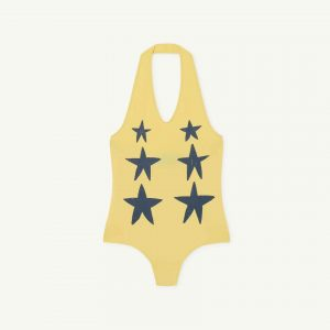 The Animals Observatory  - FISH KIDS SWIMSUIT YELLOW STARS - Clothing