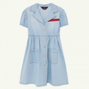 The Animals Observatory  - DENIM DOLPHIN KIDS DRESS INDIGO - Clothing