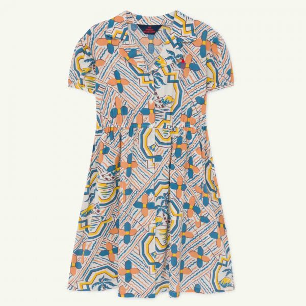 The Animals Observatory  - DOLPHIN KIDS DRESS FLOWERS - Clothing
