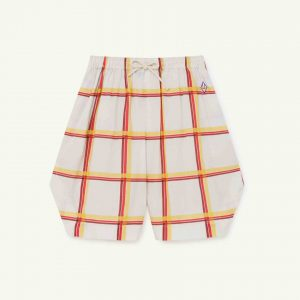 The Animals Observatory  - DUCK KIDS BERMUDAS SOFT BEIG SQUARES - Clothing
