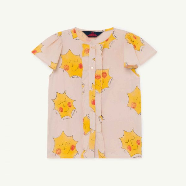 The Animals Observatory  - PARAKEET KIDS BLOUSE ROSE SUNS - Clothing