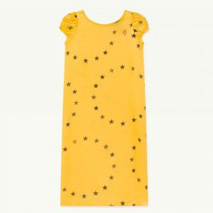 The Animals Observatory  - GIRAFFE KIDS DRESS YELLOW STARS - Clothing