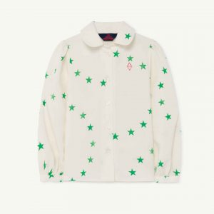 The Animals Observatory  - GADFLY KIDS BLOUSE WHITE STARS - Clothing