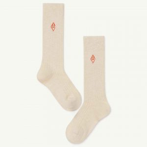 The Animals Observatory  - SKUNK KIDS SOCKS WHITE LOGO - Clothing