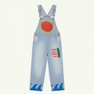 The Animals Observatory  - STRIPES MULE KIDS DUNGAREE INDIGO SUN - Clothing
