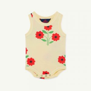 The Animals Observatory  - TURTLE BABY BODY YELLOW FLOWERS - Clothing