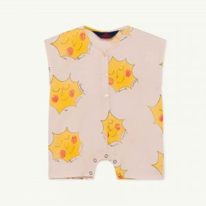 The Animals Observatory  - GOOSE BABY JUMPSUIT ROSE SUNS - Clothing