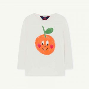 The Animals Observatory  - DEER KIDS T-SHIRT WHITE FRUIT - Clothing