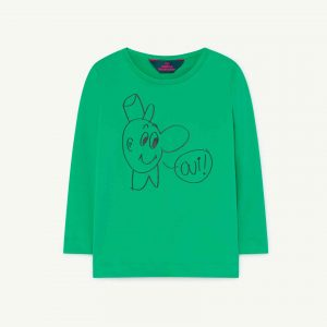 The Animals Observatory  - DEER KIDS T-SHIRT GREEN OUI - Clothing