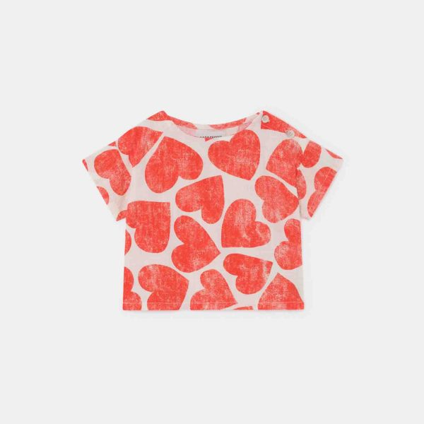 Bobo Choses  - ALL OVER HEARTS BLOUSE TURTLEDOVE - Clothing