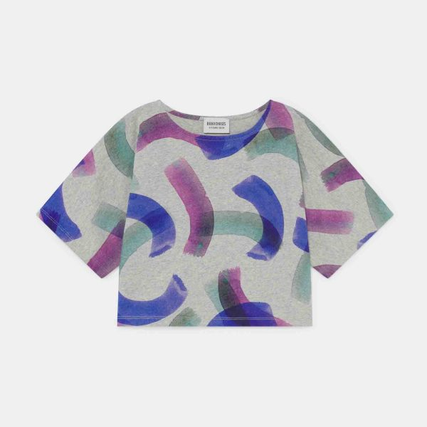 Bobo Choses  - ALL OVER PAINTED T-SHIRT LIGHT GREY - Clothing