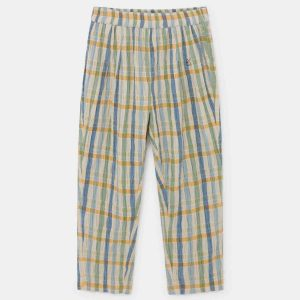 Bobo Choses  - CHECKER BAGGY TROUSERS TURTLEDOVE - Clothing
