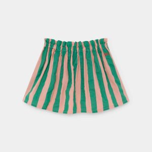 Bobo Choses  - STRIPED FLARED SKIRT BLOOMING DAHLIA - Clothing