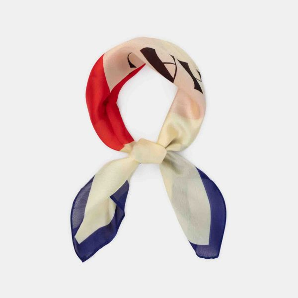 Bobo Choses  - CHACHACHA KISS SQUARE SCARF TURTLEDOVE - Accessories