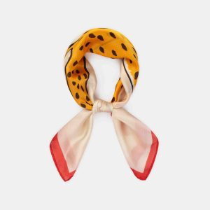 Bobo Choses  - LEOPARD SQUARE SCARF TURTLEDOVE - Accessories