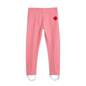 Mini Rodini  - CLOVER EMBROIDERED LEGGINGS PINK - Clothing