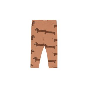 Tinycottons  - IL BASSOTTO BABY PANT TAN DARK BROWN - Clothing