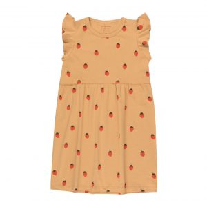 Tinycottons  - STRAWBERRIES DRESS TOFFEE RED - Clothing