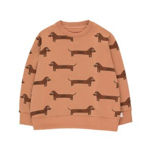 Tinycottons  - IL BASSOTTO SWEATSHIRT TAN DARK BROWN - Clothing