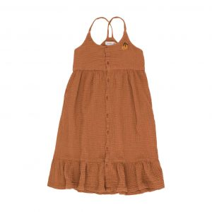 Tinycottons  - ORANGE DRESS CINNAMON - Clothing